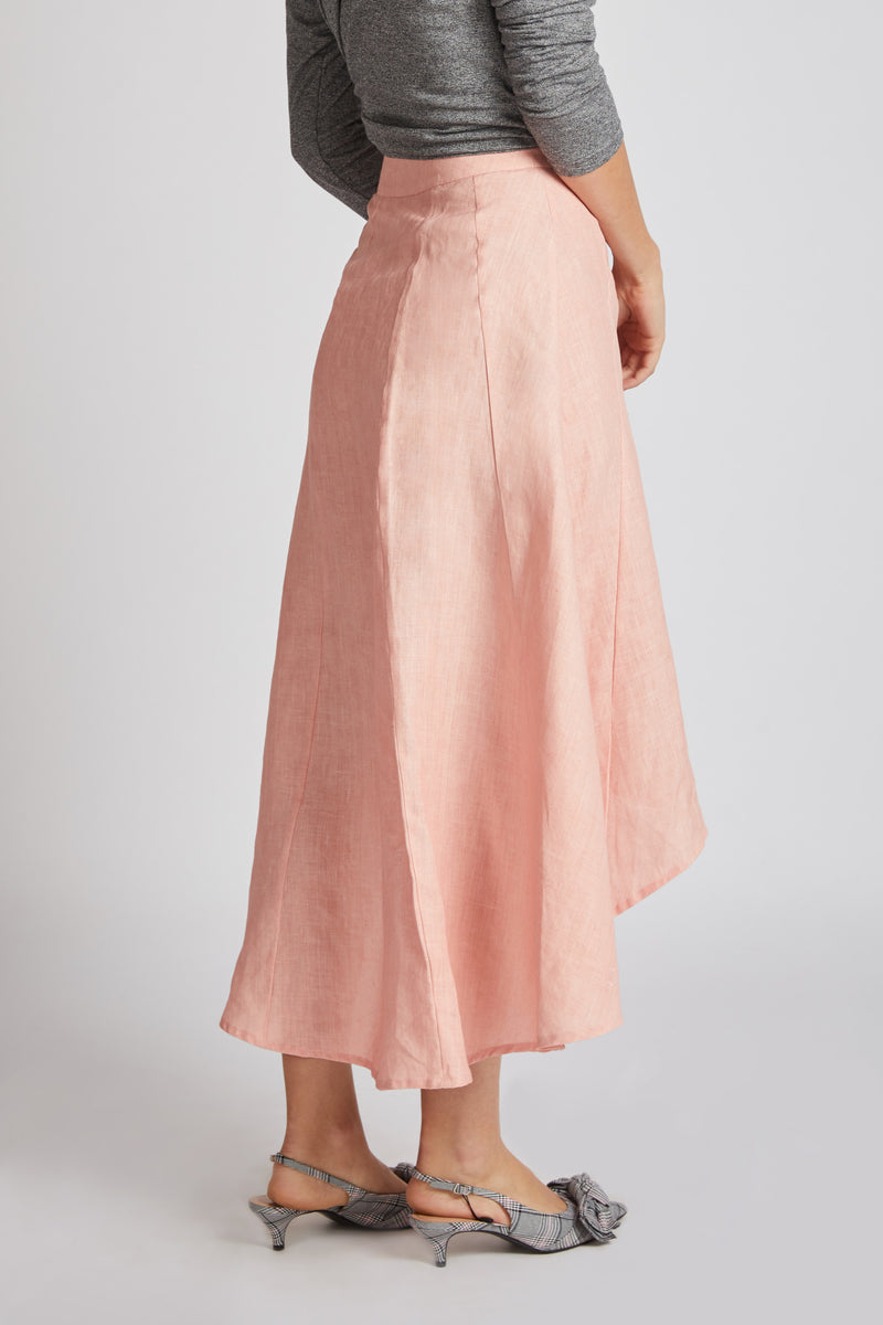 Sail High Low Skirt - Peach