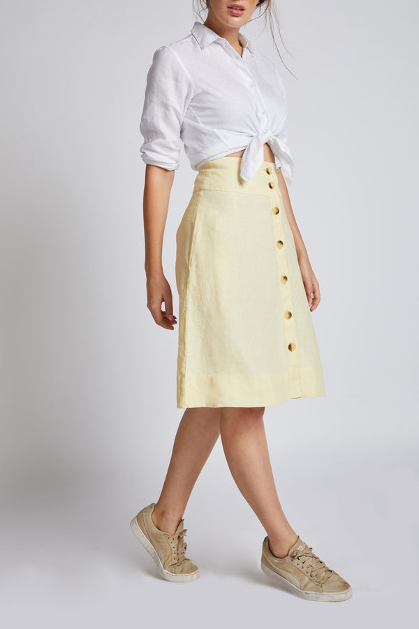 Skyward Skater Skirt - Yellow