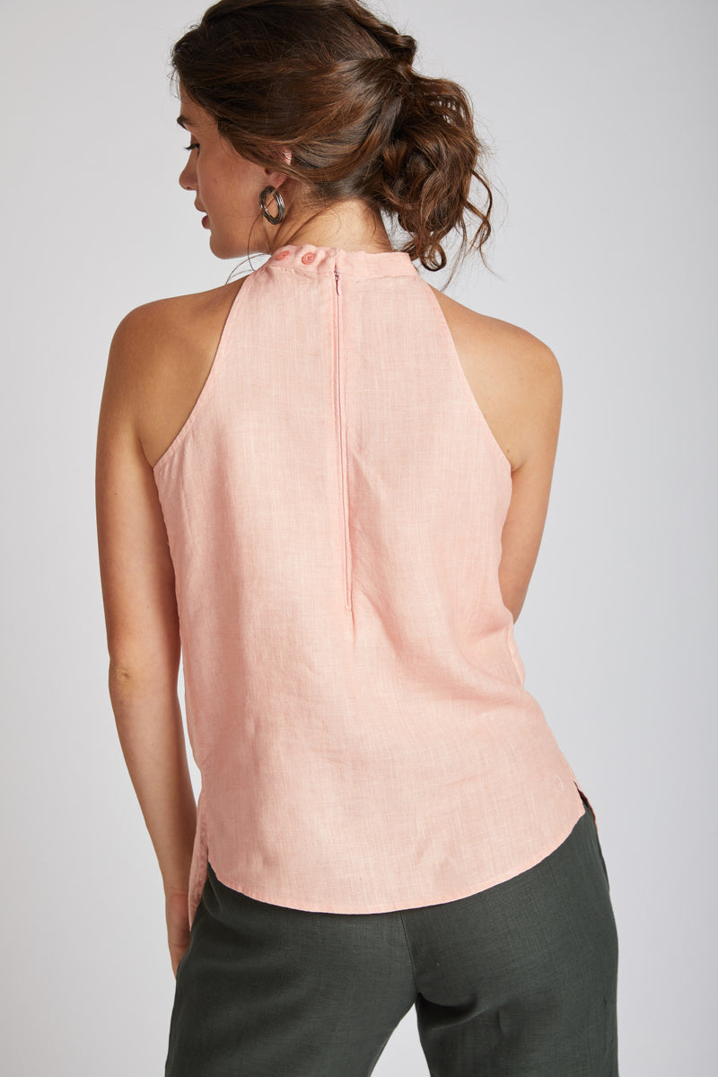 Tide Halter Top - Peach
