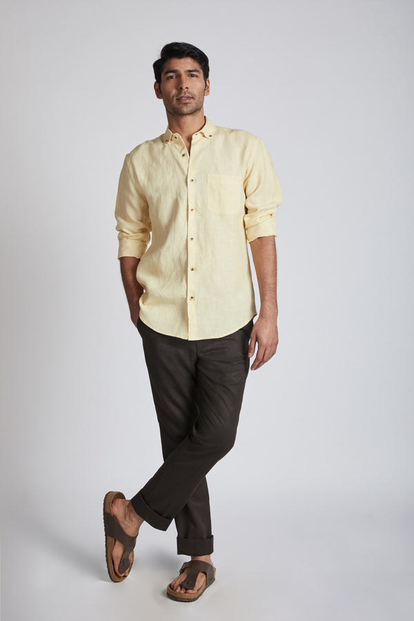 Velocity Buttondown Shirt - Yellow