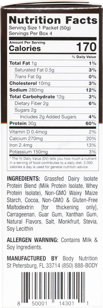 Power Pudding NATURALS: All-Natural Instant Protein Pudding Mix 7oz (4 Servings)
