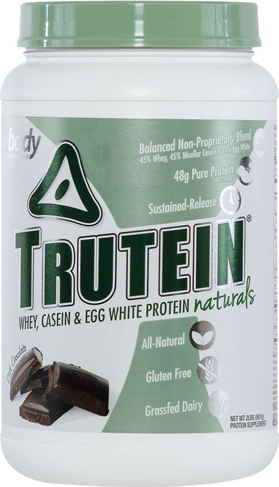 Trutein NATURALS: The Original Trutein Made All-Natural! -Dark Chocolate- 2lb (27 Servings)