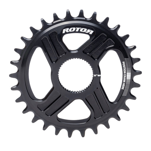 Rotor OCP DM Oval Q Rings, 34/50t, Black