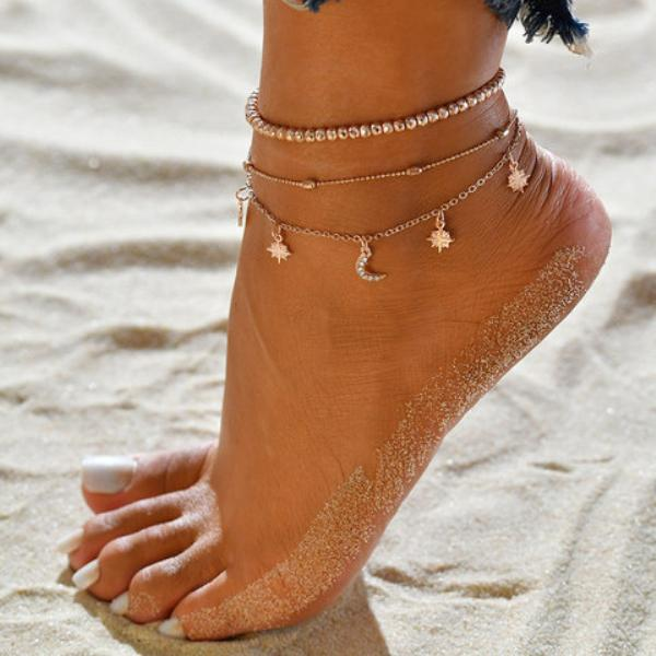 Women Accessories Star Anklets