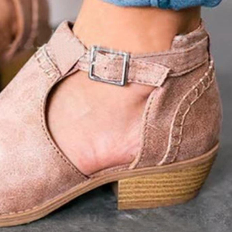 Casual Plain Velvet Round Toe Outdoor Ankle  Boots