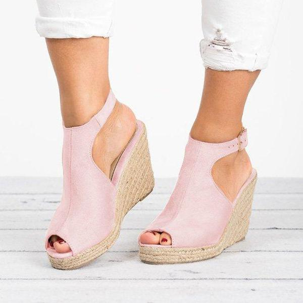 Fashion Fish Toe Wedge Sandals