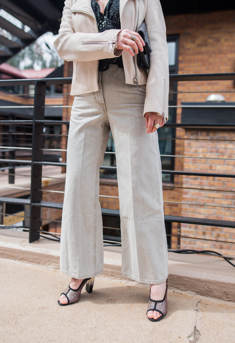 khaki wide leg denim.....part 1