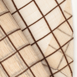 Millinery Supplies UK PinokPok checker Choc/Natural