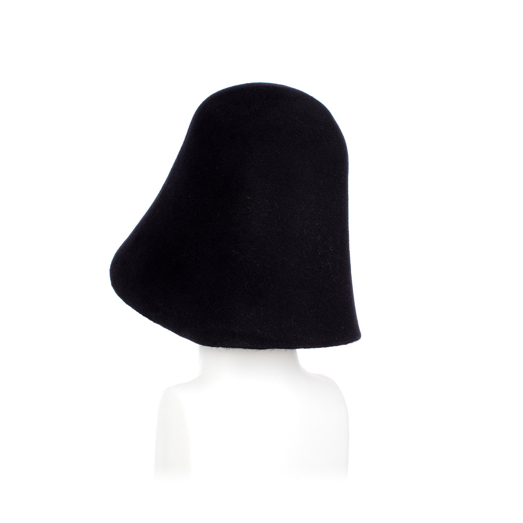 Millinery Supplies UK Dark Navy Fur Felt Hood