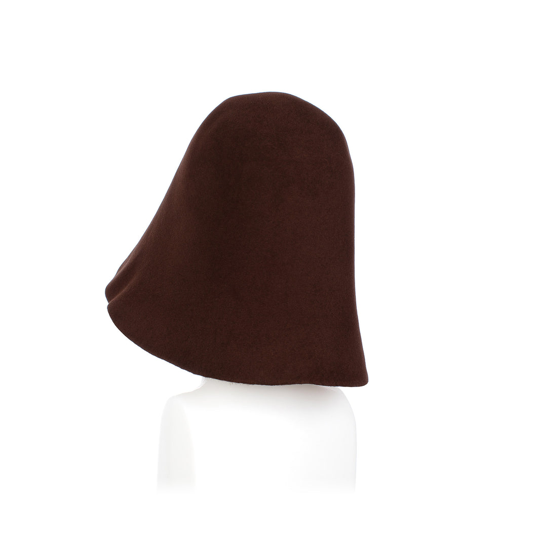 Millinery Supplies UK Mid Brown Fur Felt Hood