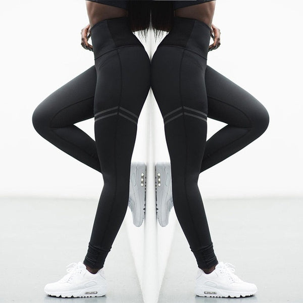 High Elastic Fitness Sport Leggings Tights Slim Running Sportswear