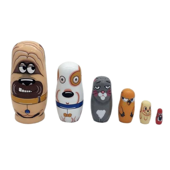 Amusing Animals Matryoshka Nesting Dolls 6 Pieces