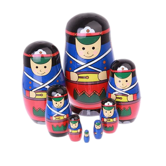 Nutcracker Soldiers Matryoshka Nesting Dolls 8 Pieces