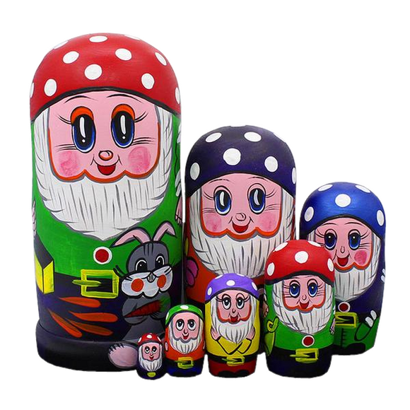 Jolly Dwarfs Matryoshka Nesting Dolls 7 Pieces