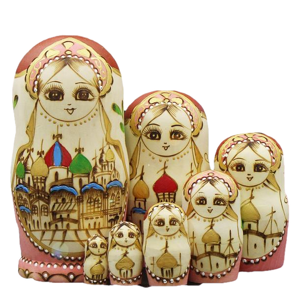 Amazing Matryoshka Nesting Dolls 7 Pieces