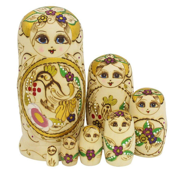 Wooden Russian Matryoshka Nesting Dolls 7 Pieces
