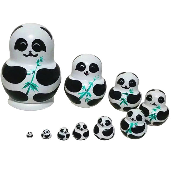 Beautiful Pandas Matryoshka Nesting Dolls 10 Pieces