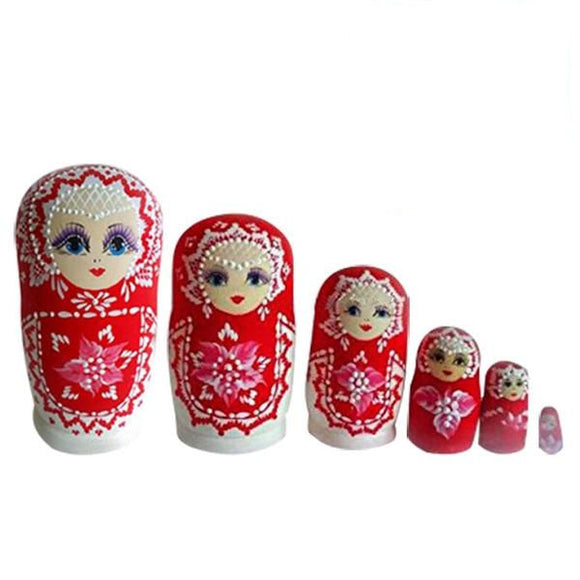 Multi Colored Matryoshka Nesting Dolls 6 Pieces
