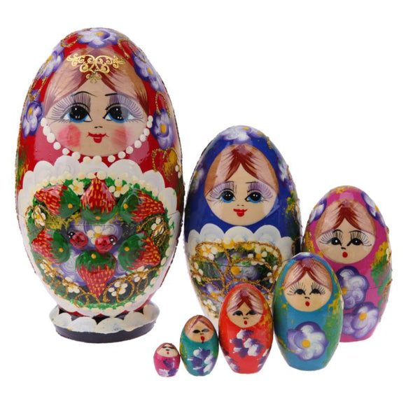 Lovely Girl Matryoshka Nesting Dolls 7 Pieces