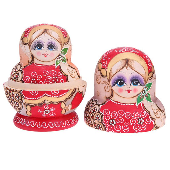 Beautiful Lady Matryoshka Nesting Dolls 15 Pieces