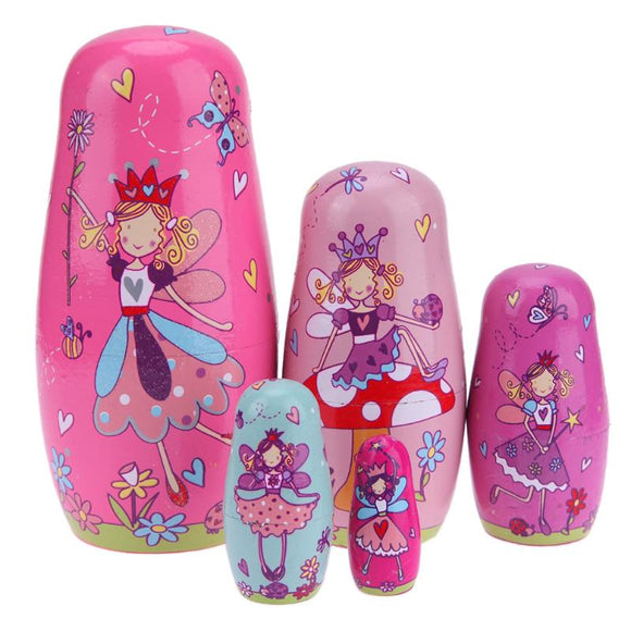 Cute Fairies Matryoshka Nesting Dolls 5 Pieces