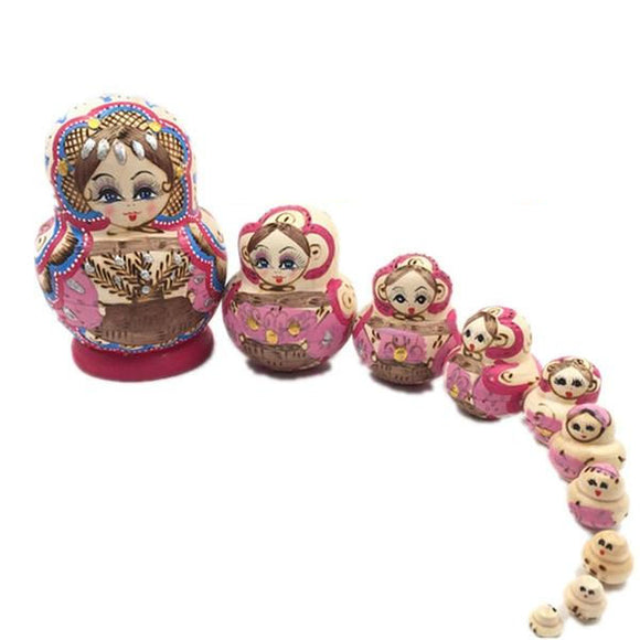 Stylish Matryoshka Nesting Dolls 10 Pieces