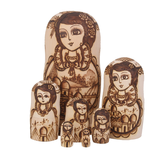 Doting Mother Matryoshka Nesting Dolls 7 Pieces