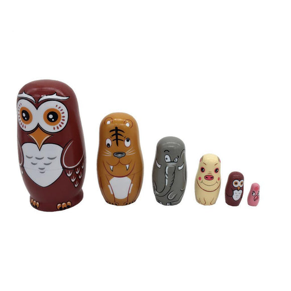 Owls Matryoshka Nesting Dolls 6 Pieces
