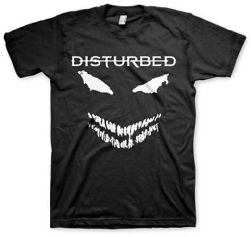 T-Shirt - Disturbed - White Scary Face