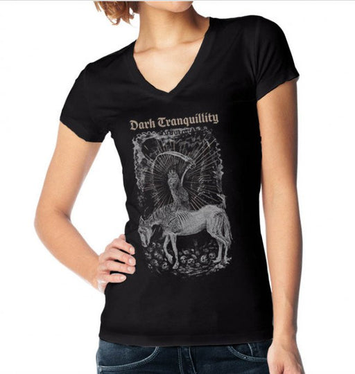 T-Shirt - Dark Tranquility - Owl - V Neck - Lady