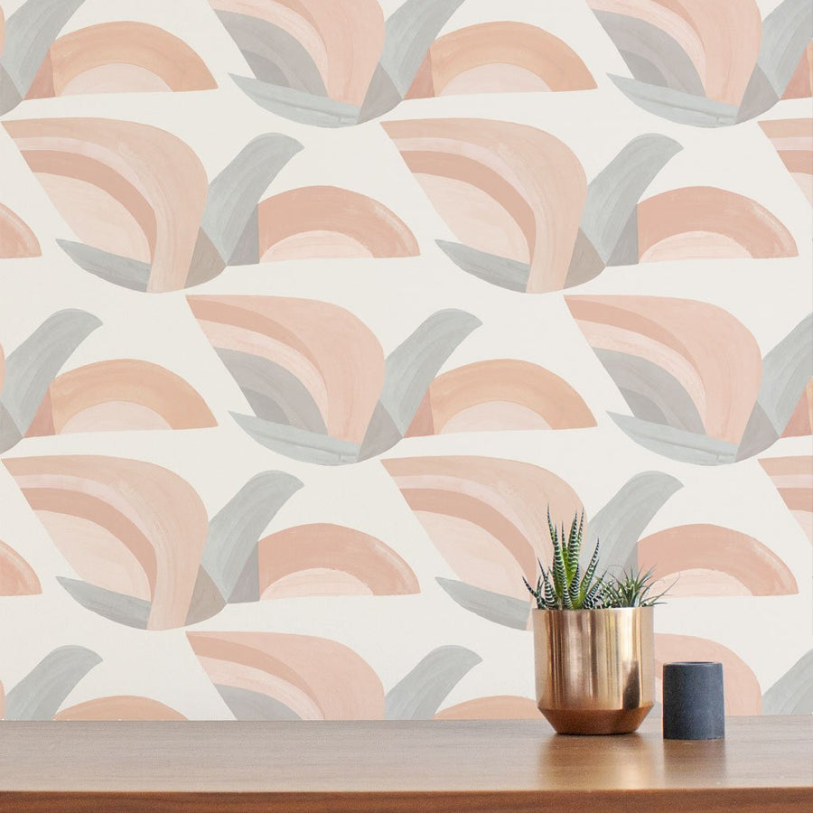 Habita wallpaper - Flock  pattern