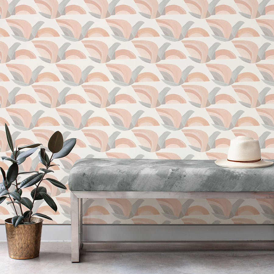 Habita designer wallpaper - Flock pattern