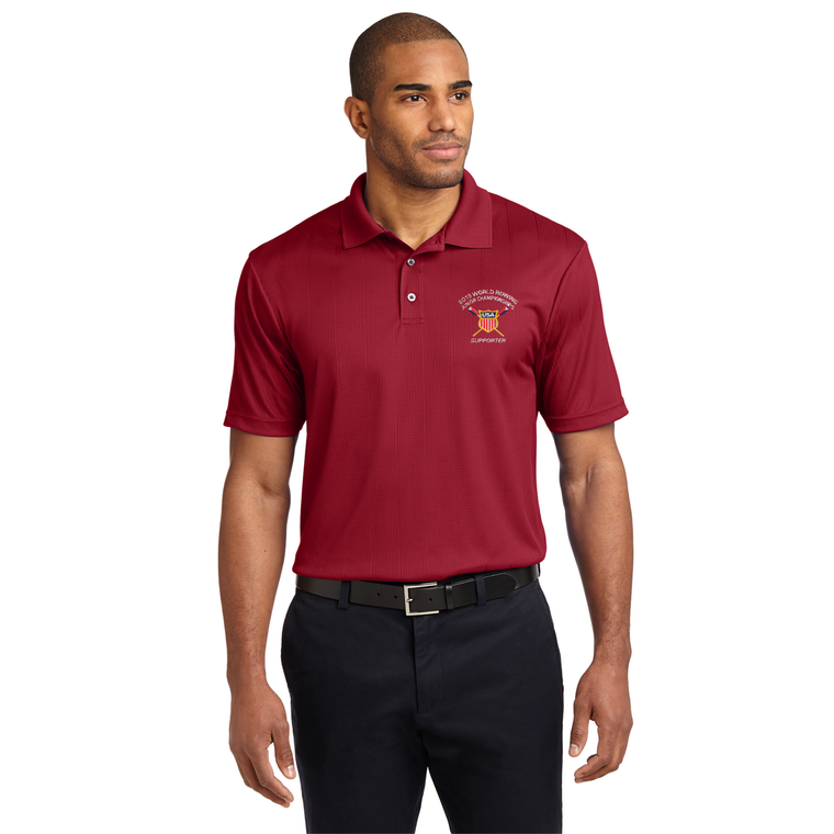 Men's Performance Fine Jacquard Polo - USROWING JUNIOR CHAMPIONSHIPS