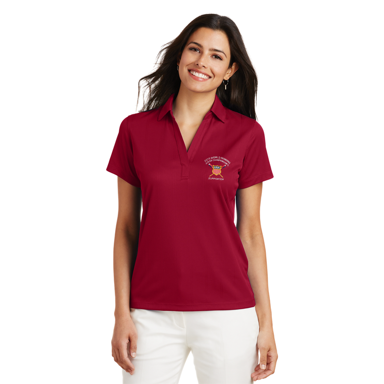 Women's Performance Fine Jacquard Polo - USROWING JUNIOR CHAMPIONSHIPS