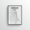 Chicago Map Art Print - Point Two Design