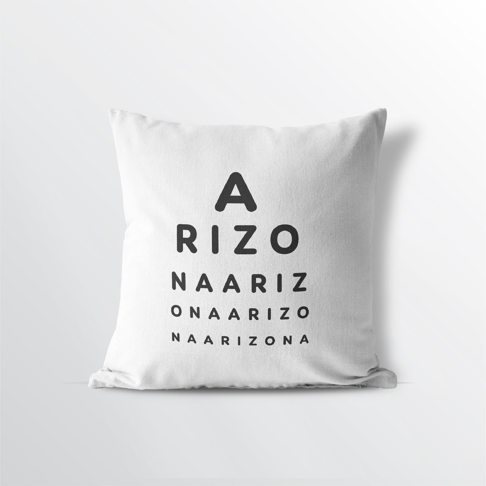 "Arizona ""Eye Exam"" Velveteen Throw Pillow - Point Two Design"
