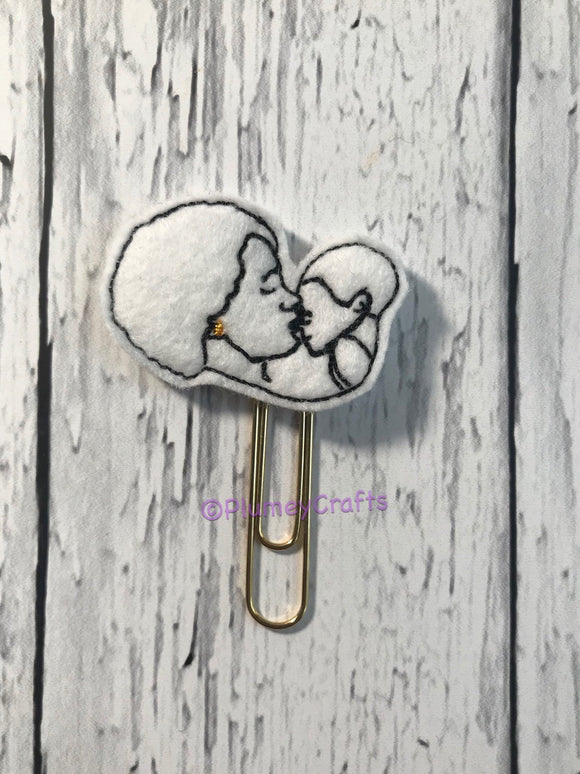 Mother and Baby Paper Clip