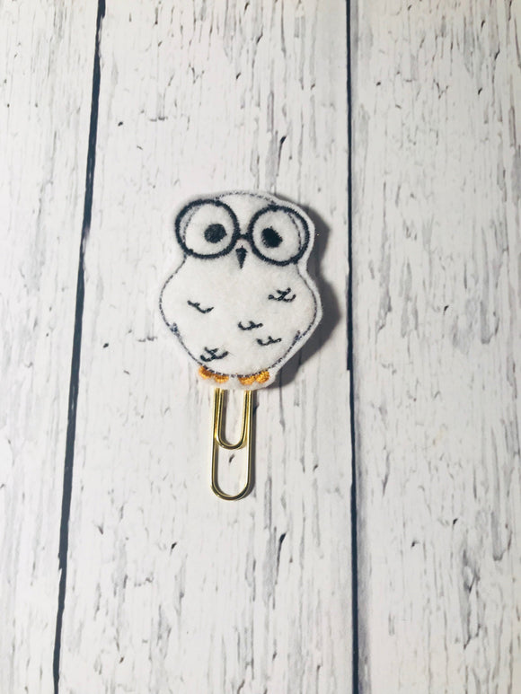 Owl with Glasses Paper Clip
