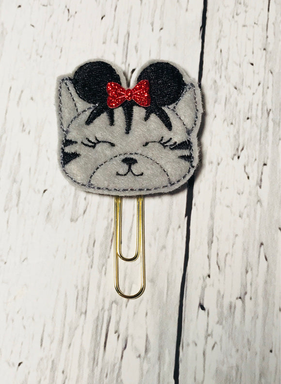 Cat with Mouse Ears Paper Clip