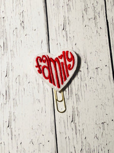 Family Heart Paper Clip