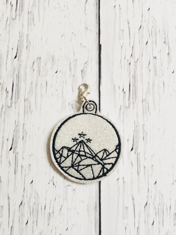 Geometric Mountain Charm