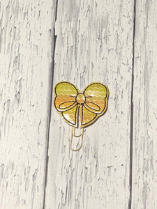 Yellow and Black Bow Paper Clip