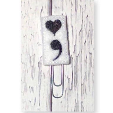 Black and white Semicolon Paper Clip