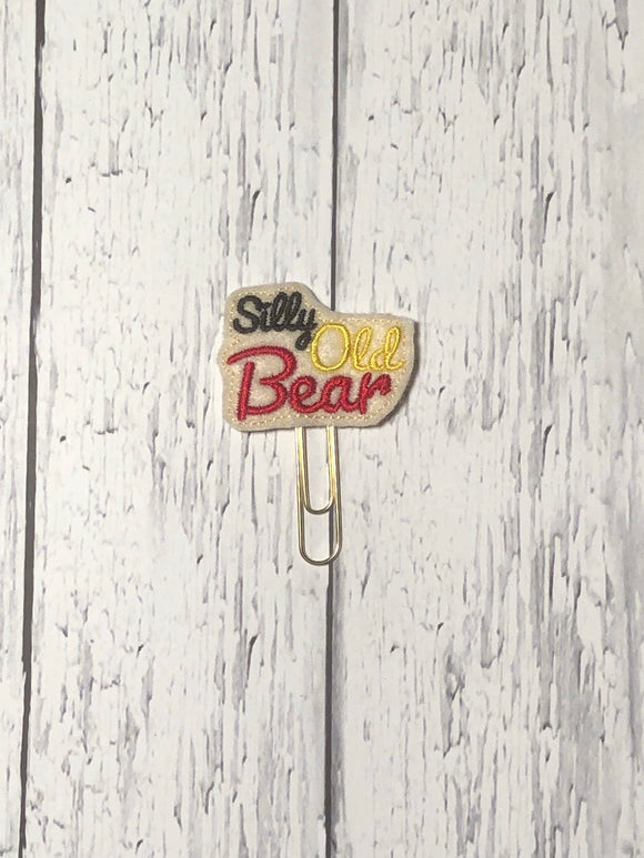 Silly Old Bear Paper Clip
