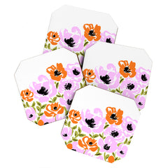 Gabriela Fuente pink fun Coaster Set