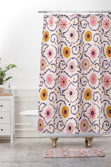 Holli Zollinger Suzani Pink Shower Curtain And Mat
