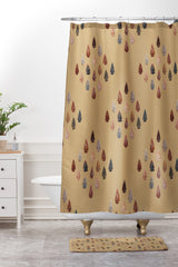 Lisa Argyropoulos Arrowheads Diamond Earth Shower Curtain And Mat