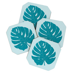 Mambo Art Studio Paper Monstera Coaster Set
