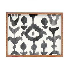 Natalie Baca Painterly Flower Ikat Rectangular Tray
