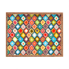 Sharon Turner Almas diamond ikat Rectangular Tray